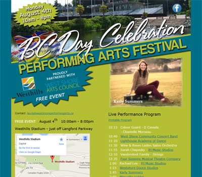 BC Day Celebration - Performing Arts Festival