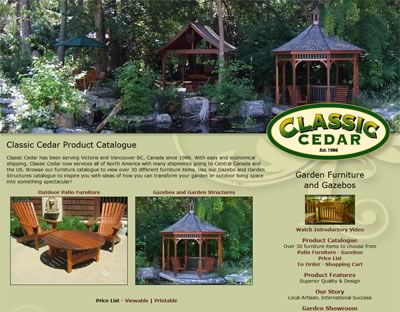 Classic Cedar Garden Furniture and Gazebos