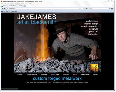 artist blacksmith Jake James