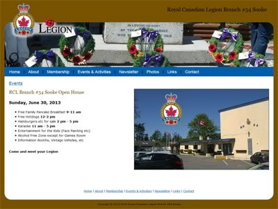 Royal Canadian Legion Branch 54 Sooke